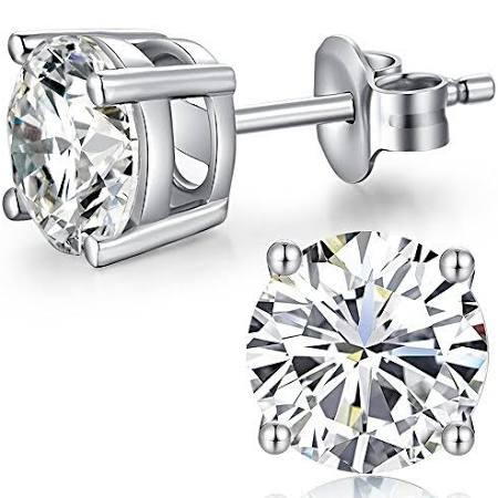 0.50ct diamond stud earrings in 18ct white gold