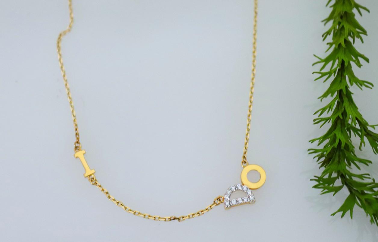 18ct yellow gold I DO chain