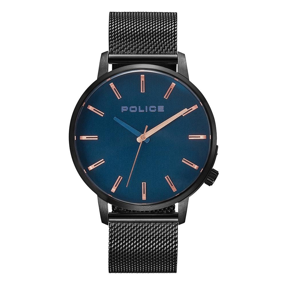 CHARCOAL MESH, ROSE GOLD INDICES POLICE WATCH