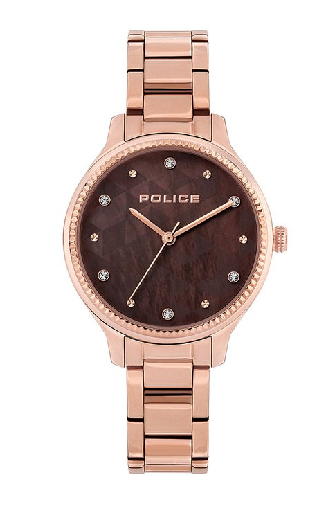 ROSE GOLD CASE DEEP BROWN DIAL STONES