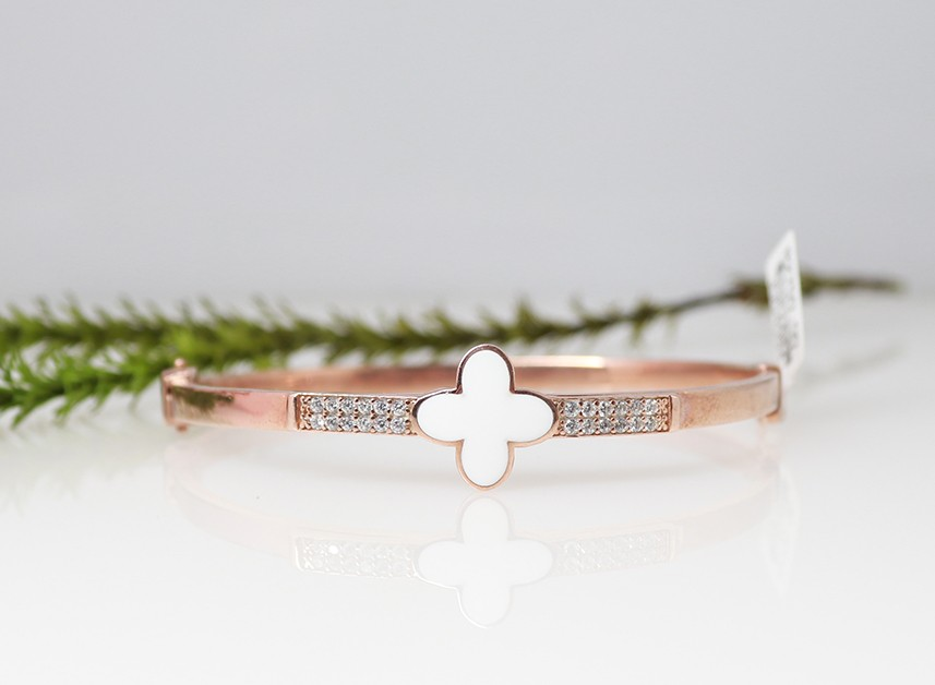 925 rose plated bangle