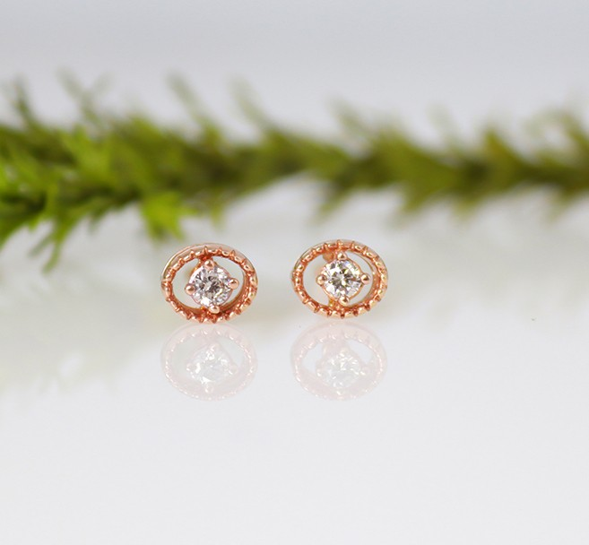 9ct diamond studs for girls
