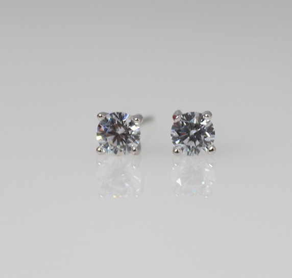 Silver Stud Earrings - 3mm