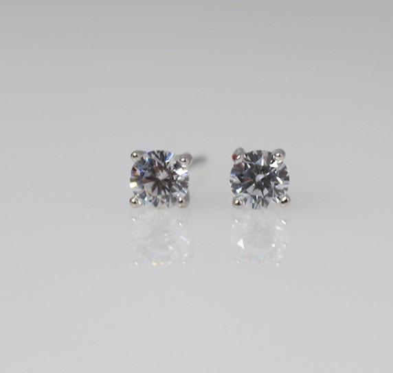 Silver Stud Earrings - 3mm