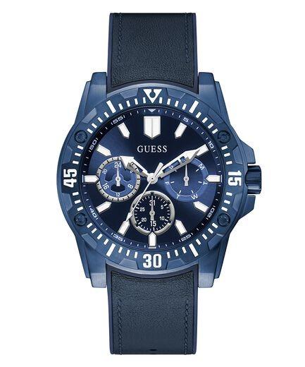 BLUE CASE BLUE GENUINE LEATHER/SILICONE WATCH GW0054G2