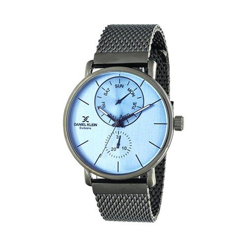 Gents charcoal with blue dial