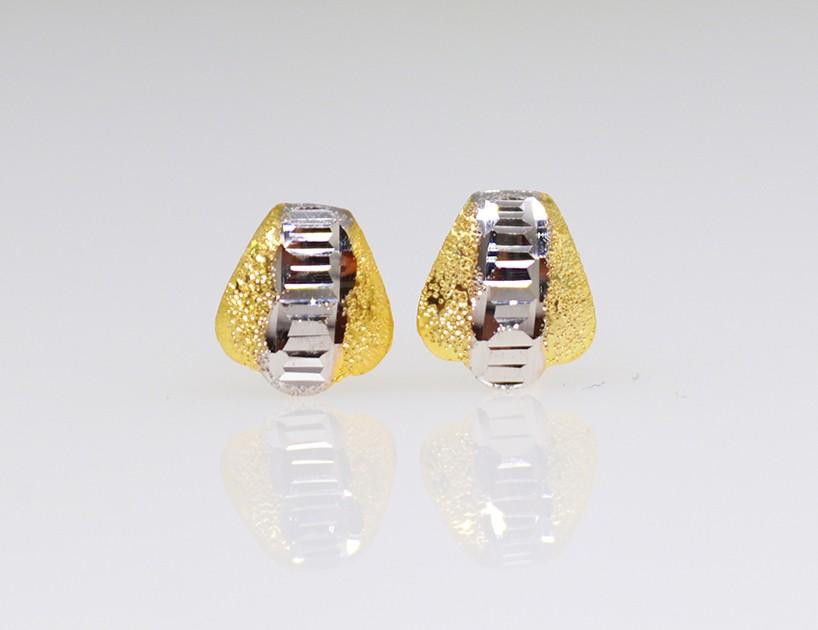 9ct gold drop flower earring matt