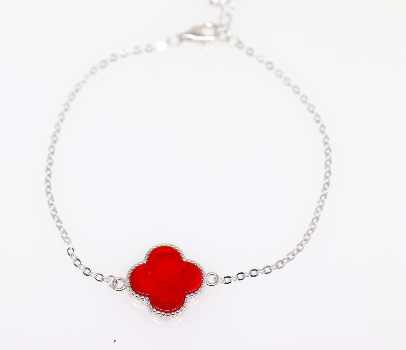 Designer Flower bracelet red