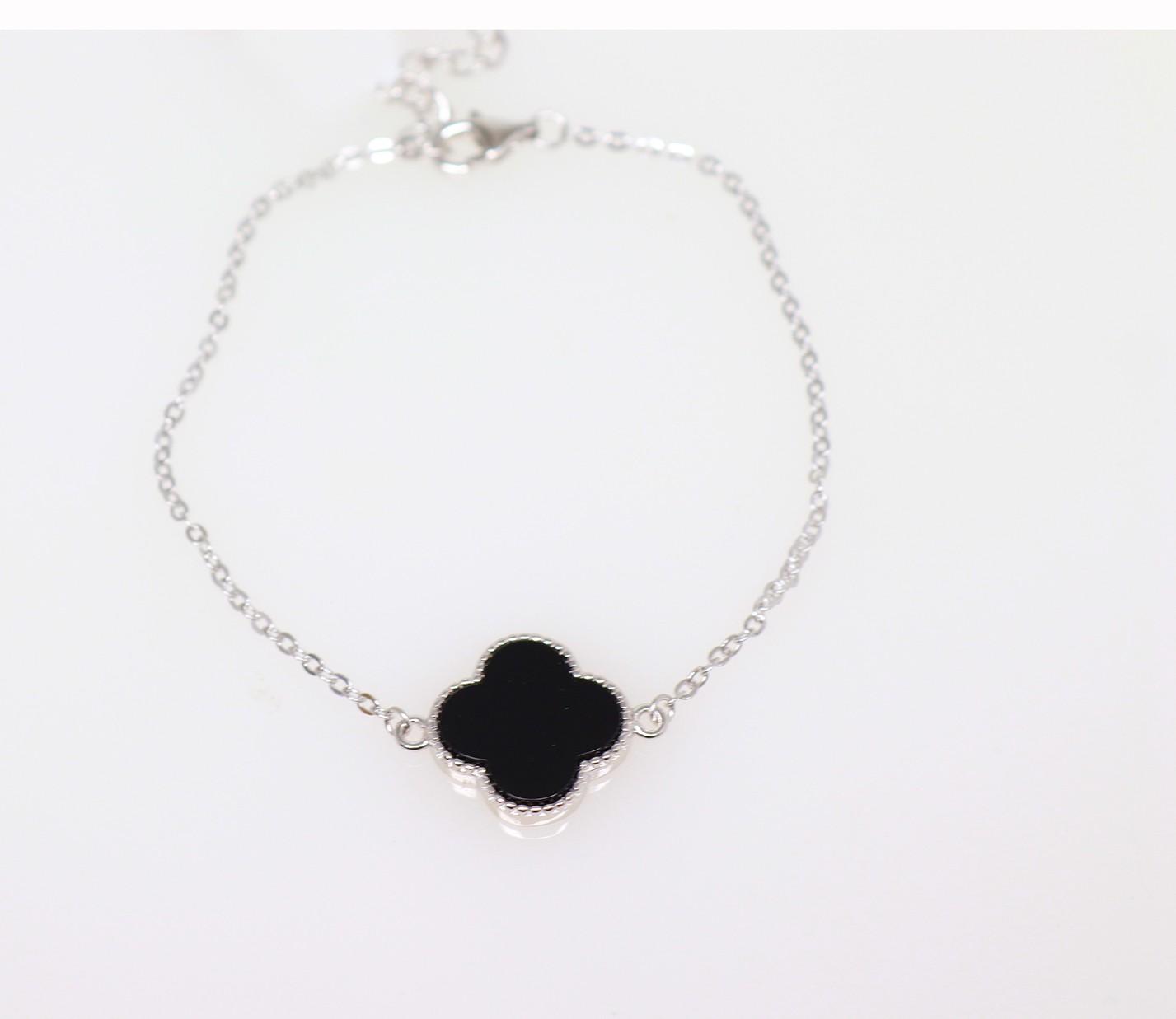 Designer flower bracelet with black centre