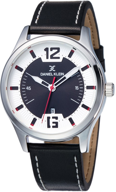 gents black leather strap