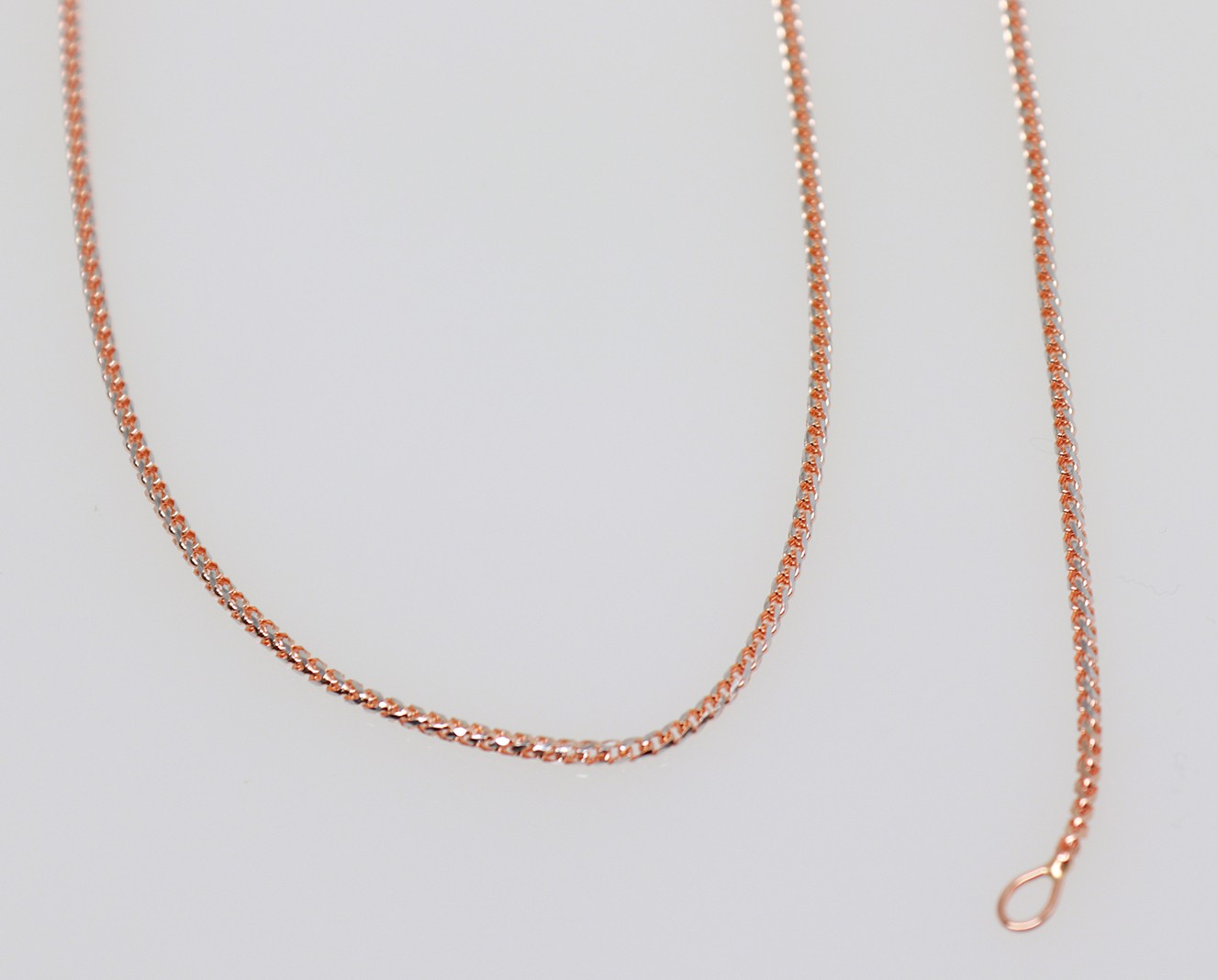 9ct rose gold chain & bracelet